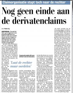 De Telegraaf 9 juli 2016